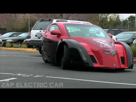 ZAP Alias Electric Car on the Road [HQ]