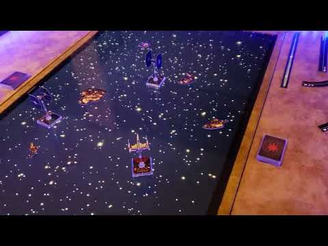 X-Wing Miniatures Game on DIY Gaming Table