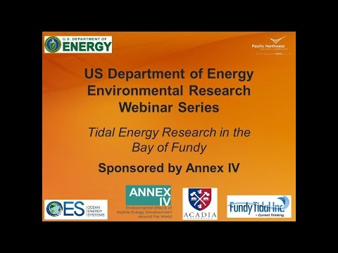 Annex IV Webinar #3: Tidal Energy Research in the Bay of Fundy