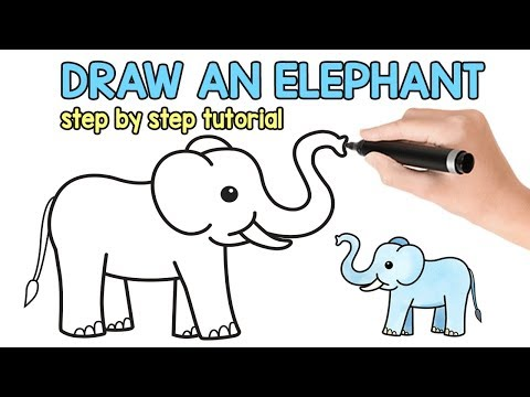How to Draw an Elephant - simple how to draw tutorial