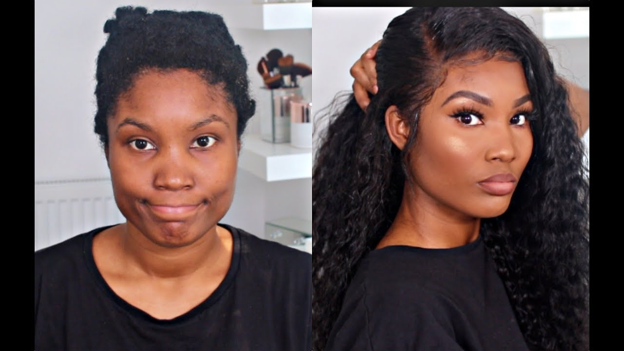 Lay A Wig With Just Hair Mousse Youtube