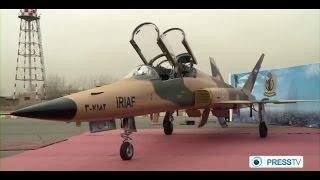 Iran made HESA Saeqeh 2 two seat fighter trainer jet صاعقه دو جنگنده دوسرنشين ايران