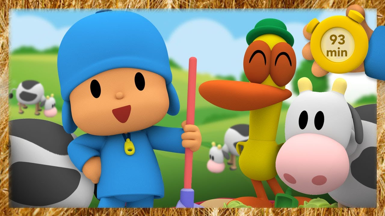 🐮 POCOYO AND NINA - Let's play on the farm [93 min] | ANIMATED CARTOON for Children | FULL episodes