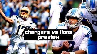 Chargers Vs Lions Preview! Week 1 Analysis/Breakdown! Detroit Lions Talk