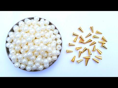 Making Designer Pearls  Necklace At Home | DIY | How to make Chokar | Bridal Necklace |Uppunuti Home