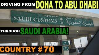 driving from qatar to abu dhabi via saudi arabia