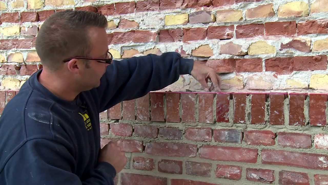 Udskiftning af murværk - YouTube