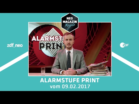 Alarmstufe Print | NEO MAGAZIN ROYALE mit Jan Böhmermann - ZDFneo