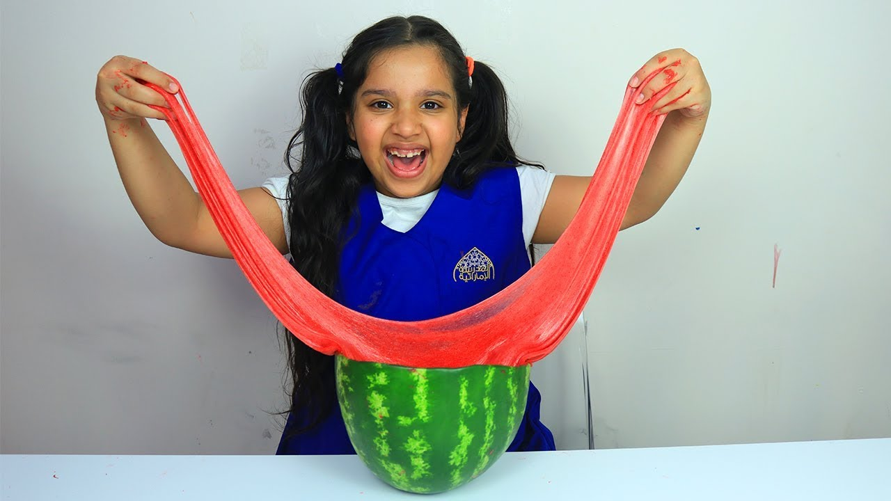 شفا تصنع سلايم البطيخ Shfa Making Watermelon Slime Youtube