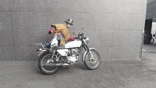 두정갑 입고 오토바이 타는 영상