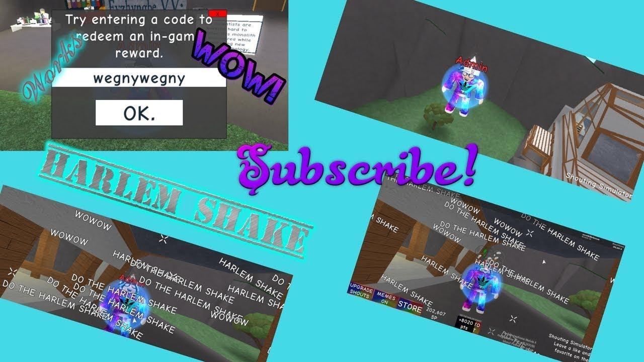 Roblox Shouting Simulator! How to get free admin! Code!