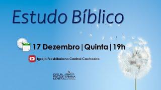"""Estudo Bíblico: """"Nasceu o Salvador!"""" - 17 de dezembro de 2020"""