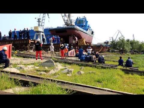 Launching of Stan Tug 4011 -- SL Gabon Nassau from Damen Shipyard Galati