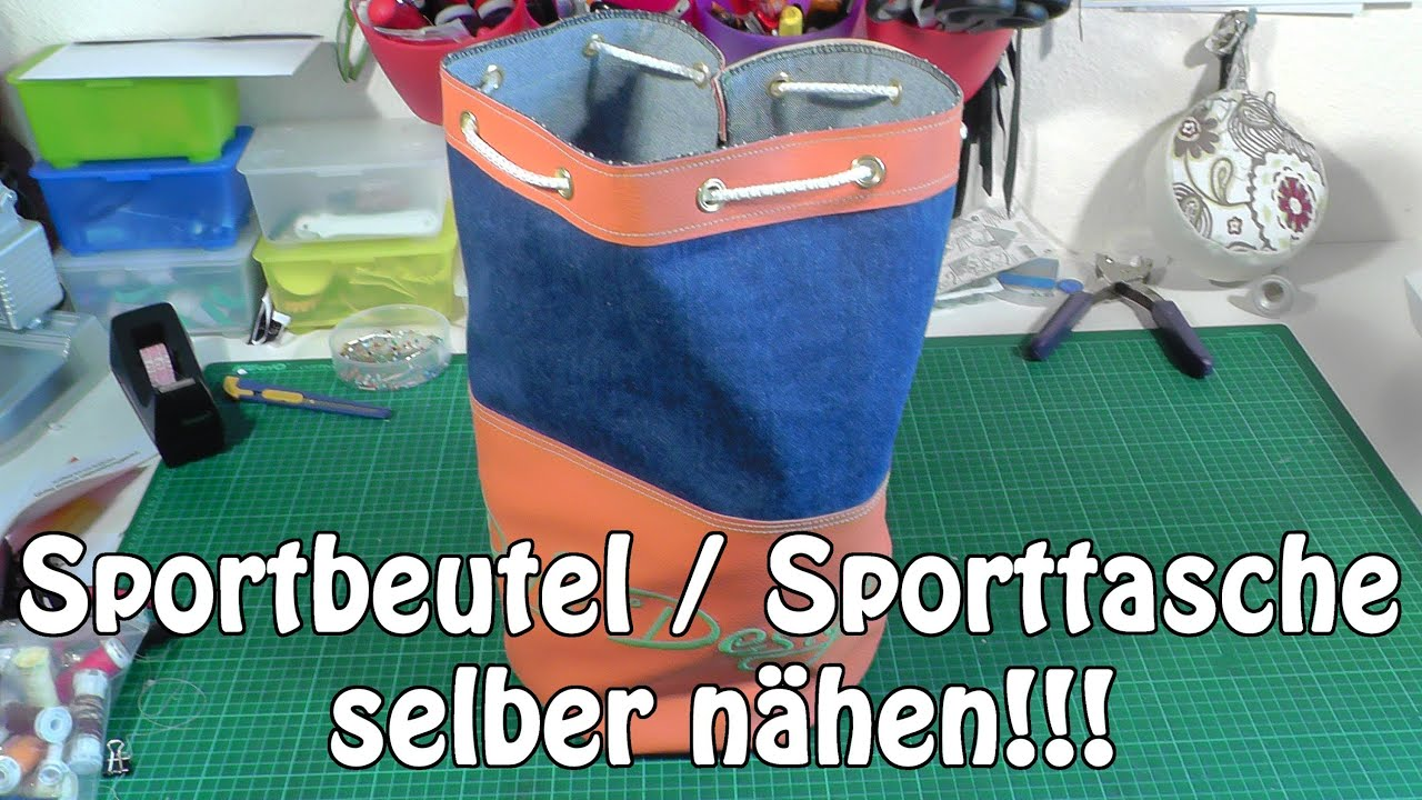 sportbeutel sporttasche selber n hen i diy n hen f r anf nger i tutorial youtube. Black Bedroom Furniture Sets. Home Design Ideas