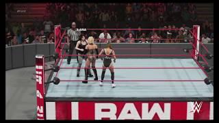 WWE 2K19 Raw Carmella vs Nikki Cross vs Lana MITB Qualification Match