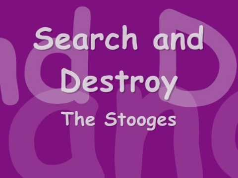 The Stooges -- Search and destroy -- With Lyrics in video