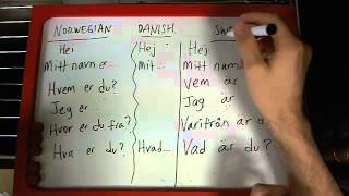Norwegian, Danish, Swedish: #1 Language Comparison