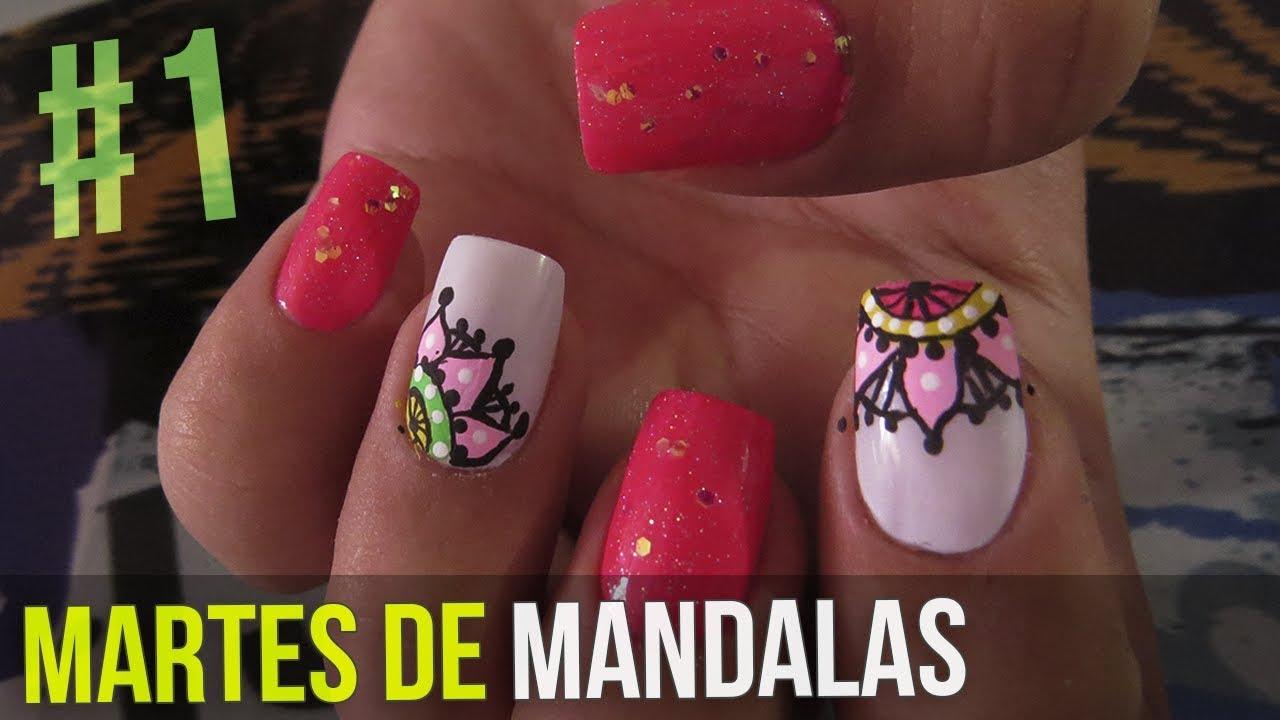 Uñas Decoradas Con Mandalas Martes De Mandalas 1 Youtube