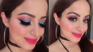 (मेकअप कैसे करें घर पर)Step By Step Base Makeup and Eye Makeup For Beginners | Deepti Ghai Sharma