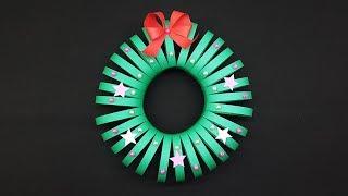 Easy Paper Wreath making tutorial - DIY Christmas Wreath