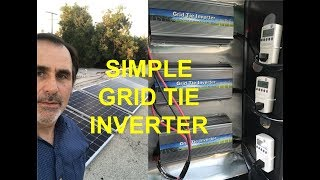 How to Install a Simple Grid Tie 1000 watt Amazon Inverter Solar System -1800 watts for $1800- James