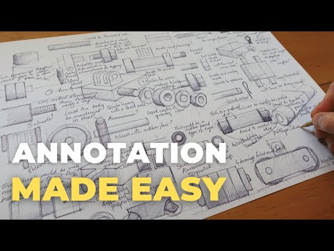 Product Design Sketching Annotation What How And Why Youtube