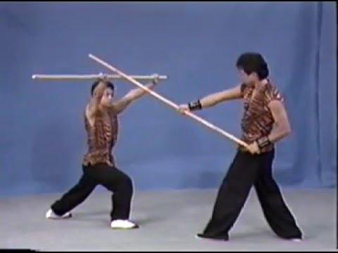 Hung Gar (Kung Fu) - Forma Lau Gar Kwan (tecniche di combattimento con il bastone lungo)