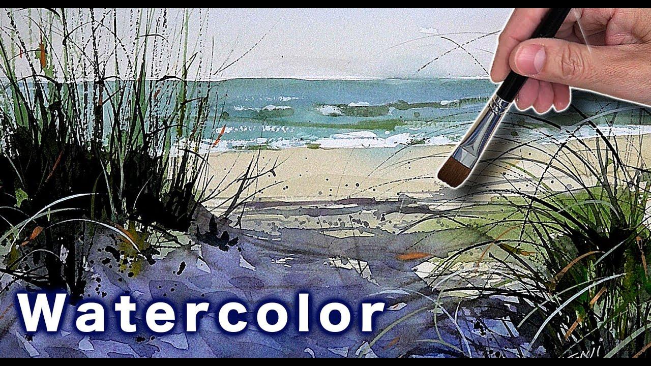 水彩画 絶対描けるようになる 繊細と明暗をきっちり付ける 画面がしまる。 癒しの水彩技法