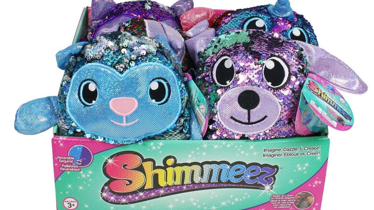 """Shimmeez Oliver Owl Brand New 8/"""" Plush Toy réversible paillettes"""