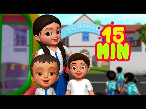 Chalo Chalo Hum School Jaate Hain | Hindi Rhymes for Children | Infobells
