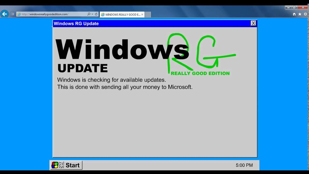 Windows rg edition - Windows Rg The Really Good Edition The Fake Os Thank You For 100 Likes