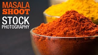 Shooting - Masala Powder on a table top for stock images - Pixomania