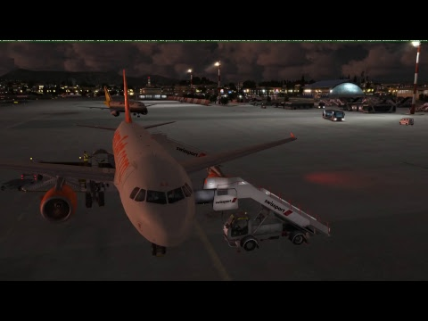 A319 EASYJET Flight from Corfu to Athens and Return - FSX - Live Traffic