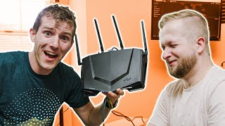 Download Upgrading our WORST Wifi Setup - NETGEAR Nighthawk Pro Gaming Router Showcase Mp3 and Videos