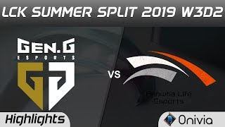GEN vs HLE Highlights Game 3 LCK Summer 2019 W3D2 Gen G Esports vs Hanwha Life Esports LCK Highlight