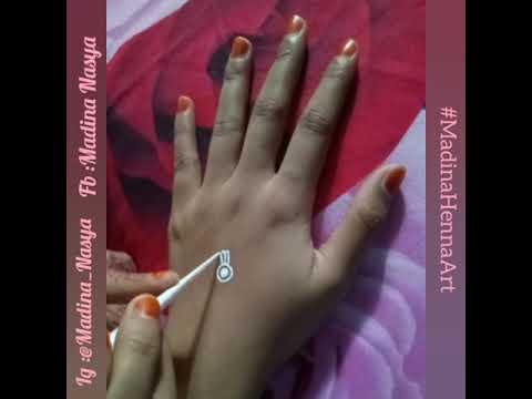 Simple White Henna Motif Tutorial Henna Part 2
