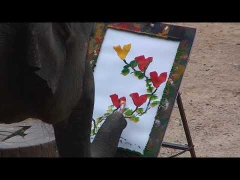 Elephant painting  in Thailand!