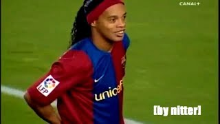 Ronaldinho Show vs Real Zaragoza 2006-2007 [by nitter]