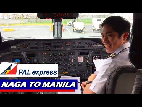 Philippine Airlines Q300 Flight from Naga to Manila