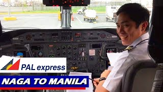 Philippine Airlines Q300 Flight from Naga to Manila