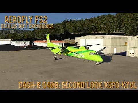 [AeroFly FS2] (Oculus Rift Experience) Dash-8 Q400 SECOND LOOK