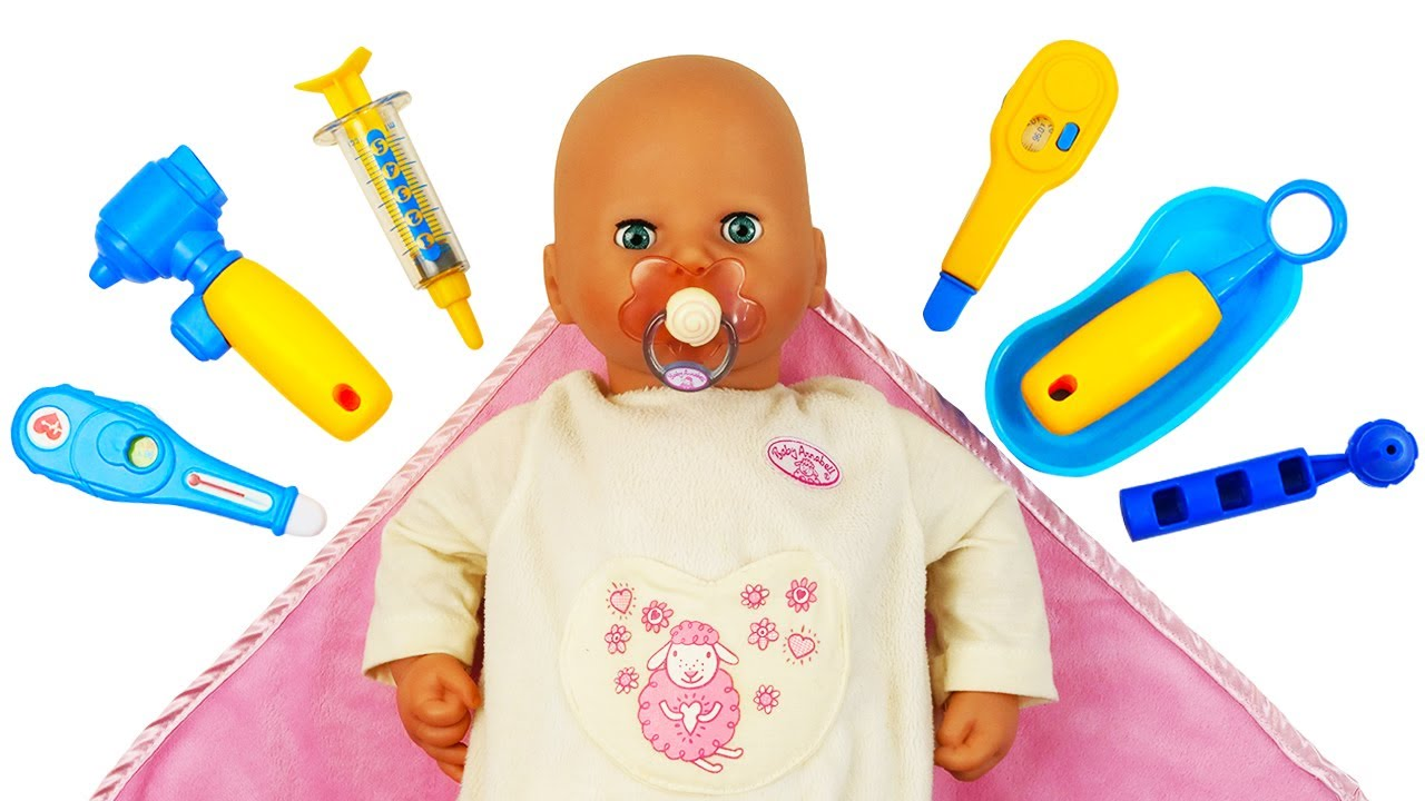 Baby Annabell doll is sick! Baby doll videos for kids. Baby Dolls and toys for babies.