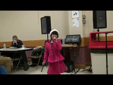 santa claus is coming to town - melanie hu 8 years -  cover - 2014