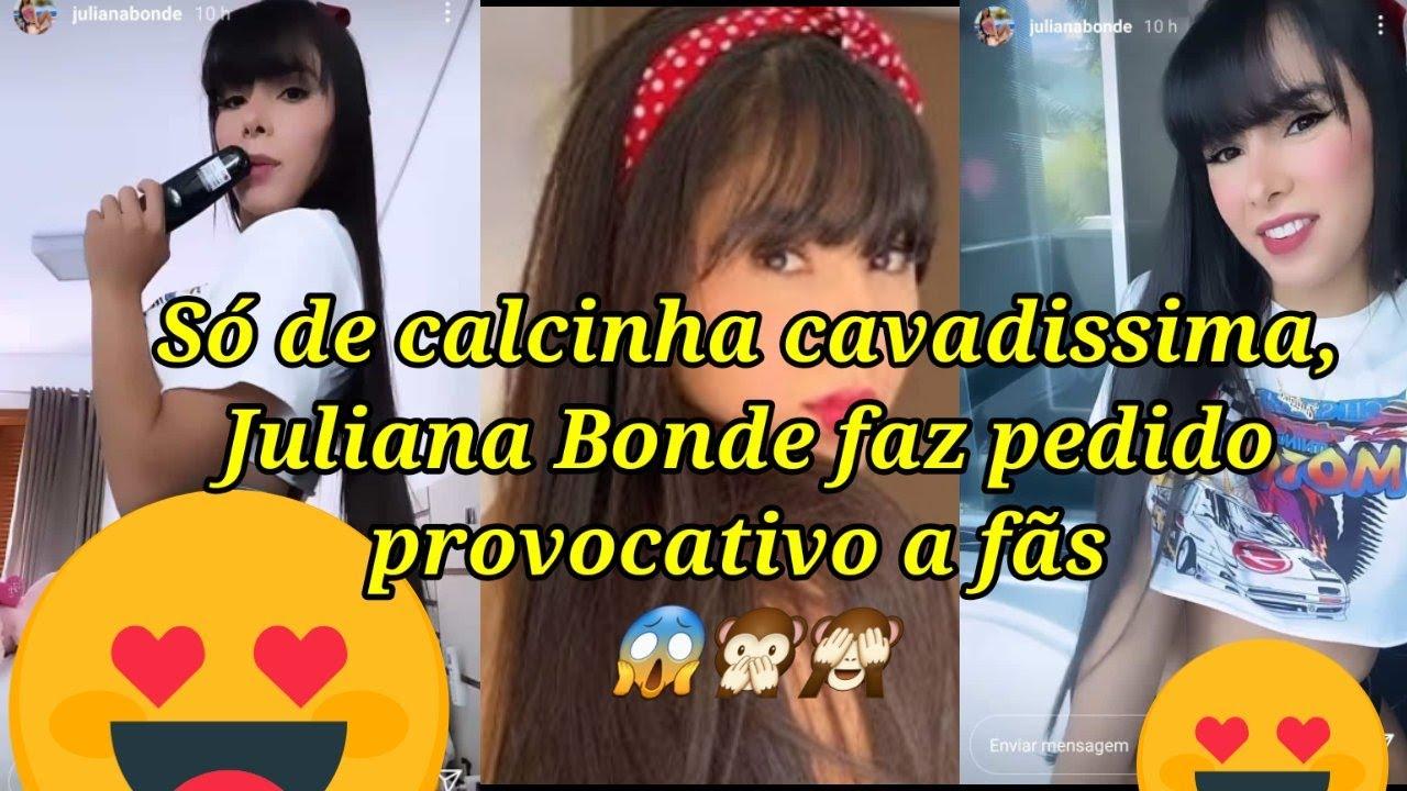 Download Só de calcinha cavadíssima , Juliana Bonde faz pedido provocativo a fãs