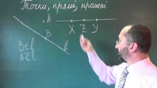 Тема 1 Урок 2 Точки, прямі, промені - Геометрія 7 клас