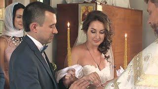 Обряд венчания. Свадьба. Фрагмент свадебного фильма.