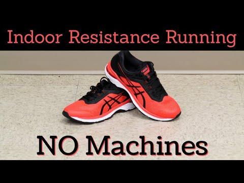 Indoor Resistance Running; No MachinesAt Home HIIT/Traditional Cardio