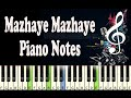 Download Mazhaye (James & Alice) Piano Notes - Music Sheet MP3 song and Music Video