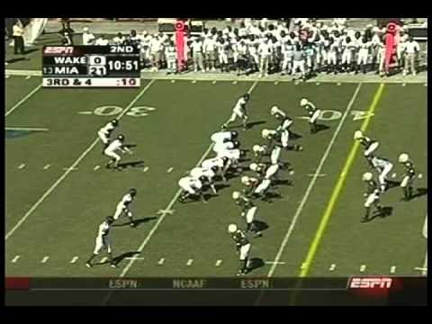 2004 Miami Hurricanes vs Wake Forest Demon Deacons Highlights