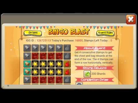 Castle Clash Bingo Blast & Smash And Win